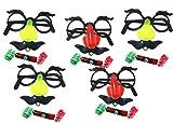 パーティーマスク セット めがね ひげ 巻き笛 おもしろ ジョークグッズ (a 20個 セット)