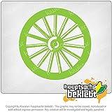 ホイールホイール古いアンティーク Wheel Wheel old antique 3,9inch x 3,9inch 15色 - ネオン+クロム! ステッカービニールオートバイ