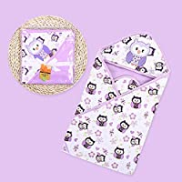 Newborn Baby Swaddle Blanket Soft Anti-Kicking Spring Summer Hoodie Romper Sleeping Bag for Baby Boys Girls random