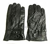 グッドライフEXPRESS シープスキン 防寒 防水 本革手袋 ウインターグローブ フリーサイズ 【GLEブランドマイクロファイバークロスセット】 GL517 ブラック