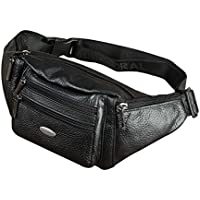 Genda 2Archer Men's Vintage Leather Small Waist Pack Bumbag