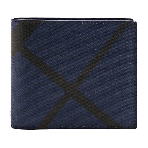 [バーバリー] BURBERRY 財布 メンズ 二つ折り MEN'S WALLET CCBILL8 ロンドンチェック 3996191 4100B/NAVY*BLACK/LONDON CHECK