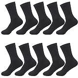 Hisitosa 靴下 メンズ ビジネスソックス 銀イオン 抗菌防臭 通気性抜群 10足/5足セット 24-28㎝ 黒 (ブラック)