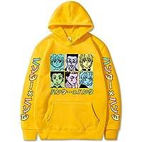 Hunter X Hunter Mens Hoodie Sweatshirt Anime Fans Cosplay Sweatshirts,Yellow,M