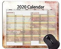カレンダー2020年のマウスパッドのスリップ防止、ステッチされた端が付いている魔法空間のテーマのマウスパッド
