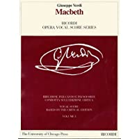 Macbeth: Melodramma in Quattro Atti Di/Melodramma in Four Acts (Ricordi Opera Vocal Score)