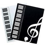 フェリモア 楽譜ホルダー 楽譜ファイル 見開き ピアノ クリアファイル 楽譜入れ A4 40ページ (4冊セット)