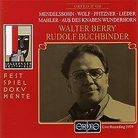 マーラー:子供の魔法の笛 他  (Mendelssohn-Bartholdy, Felix/Wolf, Hugo/Pfitzner, Hans/Mahler, Gustav: Liederabend)
