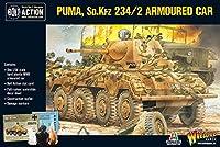 Bolt Action Puma Sd.Kfz 234/2 アーマードカー 1:56 WWII ミリタリーウォーゲーミングプラスチックモデルキット