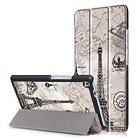 Qijuxys Lenovo Tab3 7 Plus ケース,【選べる8色】【2017新型】スタイリッシュなプリント上質PUレザーケース 超薄型 最軽量 さらさらタイプ Lenovo Tab3 Plus 7インチ ケース Lenovo Tab3 7 Plus専用上質PUレザーカバー (塔)