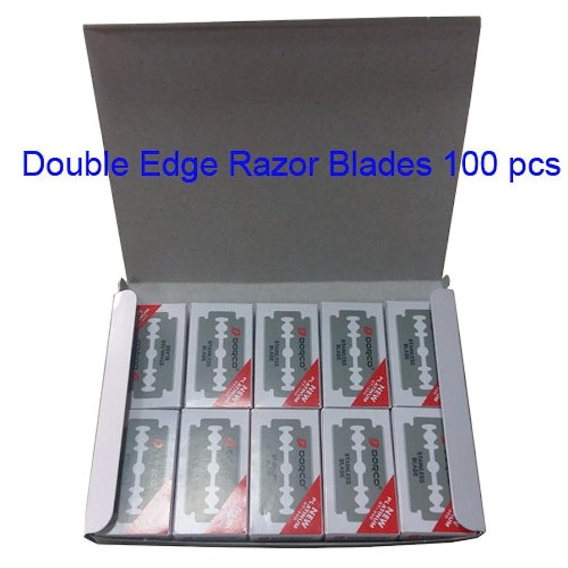 満員リングレット凍結Dorco(ドルコ) ST300 , ステンレス鋼,ダブルエッジカミソリブレード,100個 [並行輸入品]