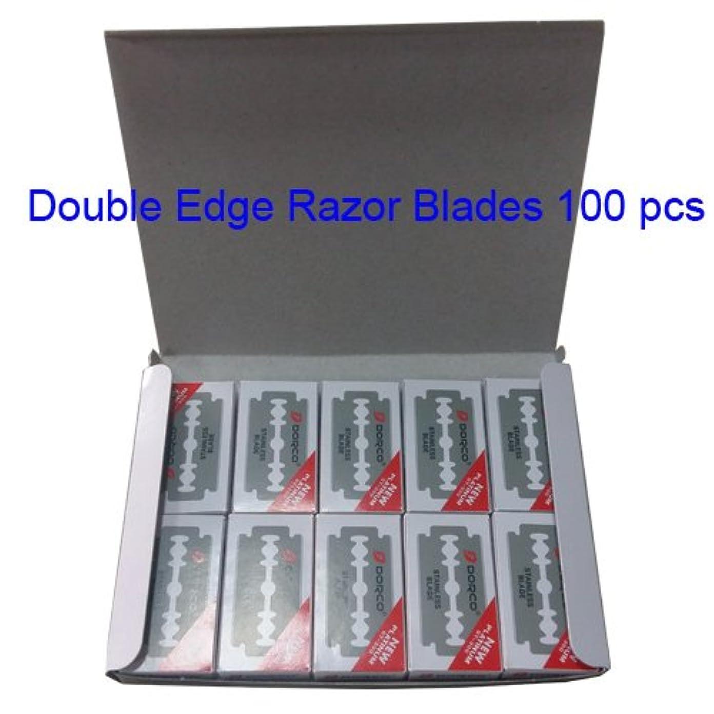 草乳剤独立Dorco(ドルコ) ST300 , ステンレス鋼,ダブルエッジカミソリブレード,100個 [並行輸入品]