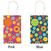 Party Bag - Multi-Sized Dots (Yellow with Circles) Party Accessory [並行輸入品]