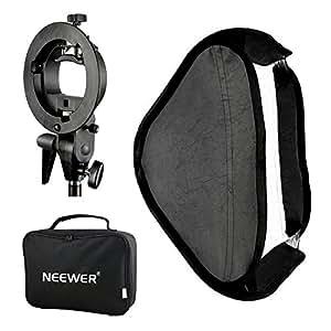 NEEWER 多機能ソフトボックス 80x80cm S型ブラケットマウント付き Nikon Canonなどのフラッシュに対応? 【並行輸入品】
