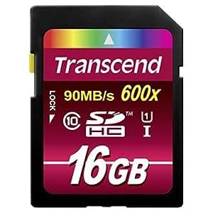 旧モデル Transcend SDHCカード 16GB Class10 UHS-I 対応 (最大転送速度90MB/s) TS16GSDHC10U1