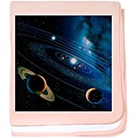CafePress – のアートワークをソーラーシステム – -スーパーソフトベビー毛布、新生児おくるみ ピンク 07932163616832E