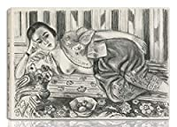 Henri Matisse 伸びた ジクレー キャンバスに印刷-有名な絵画 美術品 ポスター -再生 壁の装飾 ハングする準備ができて(赤いサテンのパンティーのオダリスク)#NK