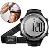 EZON HRM Tech Chest Strap Smart Sports with Heart Rate Monitor Waterproof Watch with Alarm Hourly Chime Stopwatch T007