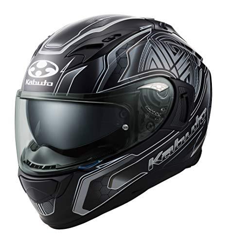オージーケーカブト(OGK KABUTO)バイクヘルメット フルフェイス KAMUI3 CIRCLE(サークル) フラットブラックシルバー (サイズ:XL) 585754