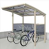 サイクルポート 三協アルミ ベルランド パネル2段タイプ 一般地域向 KLA-1421 『サビに強いアルミ 日本製 家庭用 自転車置場 屋根』  アーバングレー