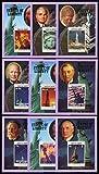 自由の女神&ケネディら米大統領の切手/英領バージン1986年小型シート9種完 -