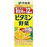 伊藤園 ビタミン野菜 パック 200ml×72個 (24個×3ケース)