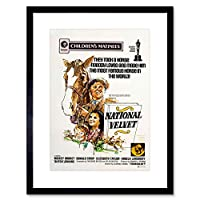 Film National Velvet Racehorse Children Kids Taylor Rooney Art Framed Wall Art Print 膜ナショナルレース子供子供たち壁