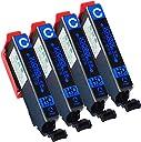<数量限定!パッケージ仕様変更> 【 4本セット 】 エプソン 用 IC80L 互換インク 【 増量版 シアン 】 ISO14001/ISO9001認証工場生産商品 残量表示対応ICチップ 1年保証 インクのチップスオリジナル 対応機種: EP-707A / EP-708A / EP-777A / EP-807A / EP-907F / EP-977A3/ EP-808A / EP-978A3 / EP-979A3