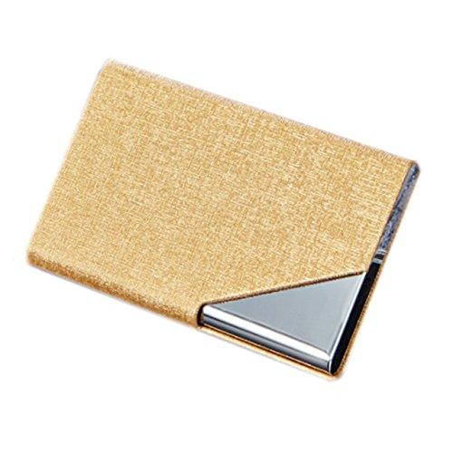 Nowest (ノウェスト) 名刺入れ カードケース 高級感溢れる スタイリッシュ 男女兼用 (ゴールド)