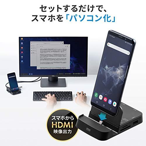 セットするだけでGalaxy・Huaweiのスマホを「パソコン化」できるカードリーダー(DeXモード・PCモード)