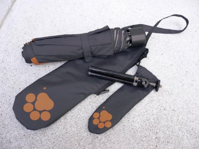 ねこきゅうシリーズ 三脚付 晴雨兼用折畳み傘 『にゃんぶれら』