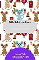 2020 Rat New Year Theme Wide Ruled Line Paper