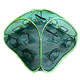 MIRAIS 釣り用 神業 立体 八手網 十二手網 改 大漁捕穫 海 蟹 海老 道具 カニ エビ 魚 網 フィッシング (Bタイプ【穴数:12個】) MR-AMI002-12