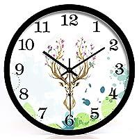 YAOJIAビニールレコード時計 クォーツウォールクロック非カチカチサイレントクォーツ装飾時計装飾ホーム/キッチン/オフィス/学校時計、読みやすい、電池式 (Color : Black, Size : 12 Inch)