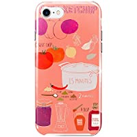[ZI:L](ジール) iPhone8plus ケース ハードケース スマホケース fd001e 北欧 食べ物柄 ケチャップ スマホカバー 携帯カバー