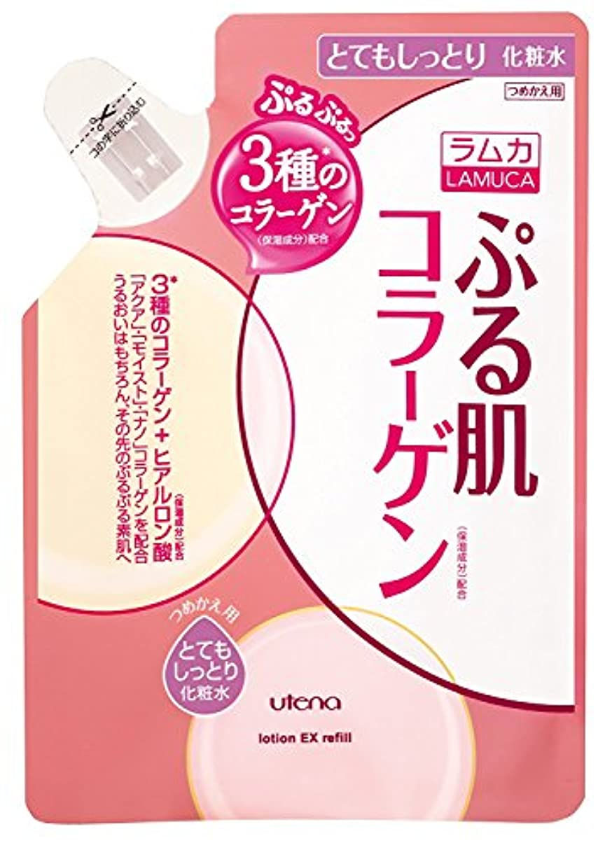 学者公平バイナリ【ウテナ】ラムカ ぷる肌化粧水 とてもしっとり つめかえ用 180ml ×10個セット