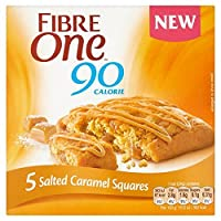 (Fibre One (繊維1)) 90カロリー5つの塩漬けキャラメル正方形120グラム (x6) - Fibre One 90 Calories 5 Salted Caramel Squares 120g (Pack of 6) [並行輸入品]