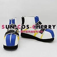 【サイズ選択可】コスプレ靴 ブーツ K-1652 キングダム ハーツ KINGDOM HEARTS リク Riku 男性26CM