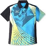 (ミズノ)MIZUNO 卓球ウェア ゲームシャツ[ユニセックス] 82JA6006 24 ディーバブルー×ブラック S