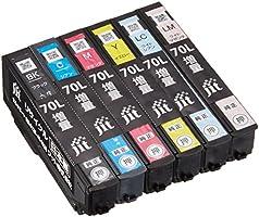 エプソン IC6CL70L (増量) 6色セット対応 ジットリサイクルインク JIT-NE70L6P(FFP・封筒パッケージ)