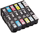 ジット エプソン(EPSON)対応 リサイクル インクカートリッジ IC6CL70L 増量 6色セット  JIT-NE70L6P(FFP)