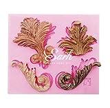 LeafIn 古典 4種類 葉っぱ シリコンモールド / 手作り 石鹸 / 樹脂 粘土 / レジン / シリコン モールド / 型 抜き型 / キット 道具 (②)