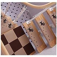 階段のトレッド長方形の犬の足跡階段のマット自己粘着滑り止めミュート無公害無料階段カーペット(60×21×4 cm)(プラットフォームパッドは含まれません),Beige,15pieces