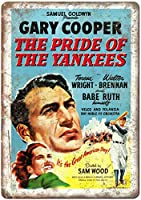 the Pride of the Yankees Gary Cooper ティンサイン ポスター ン サイン プレート ブリキ看板 ホーム バーために