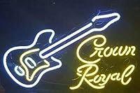 Desung新しいクラウンロイヤルギターネオンSign (複数サイズあり) Man Cave Signsスポーツバーパブビールネオンライトランプガラスネオンライトdx176 24 Inches
