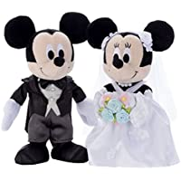 ディズニー ブライダル ミッキーマウス&ミニーマウス ドレス ぬいぐるみ 高さ約23cm