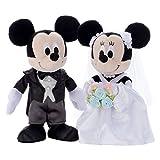 Amazon.co.jpディズニー ブライダル ミッキーマウス&ミニーマウス ドレス ぬいぐるみ 高さ約23cm