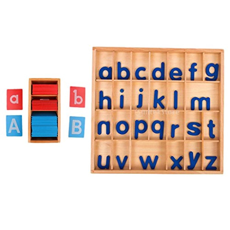 F Fityle アルファベット ボード レターボックス 可動式 a-z 学習玩具 知育玩具 子供向け