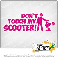 スクーターデザイン1に触れないでください Dont touch Scooter Design 1 20cm x 7cm 15色 - ネオン+クロム! ステッカービニールオートバイ
