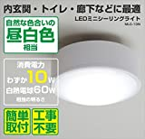 山善(YAMAZEN) LEDミニシーリングライト 白熱電球60W相当・830ルーメン・昼白色相当 MLC-10N
